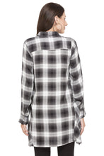 Load image into Gallery viewer, Longline Checked Shirt-3