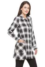 Load image into Gallery viewer, Longline Checked Shirt-4