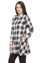 Load image into Gallery viewer, Longline Checked Shirt-5