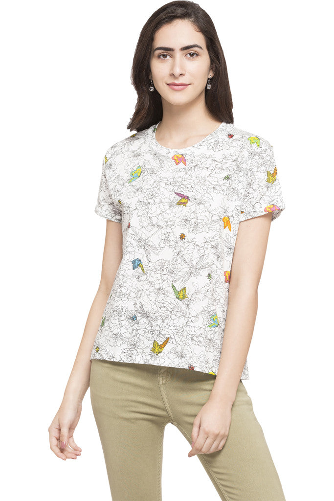 Butterfly Print Top-1