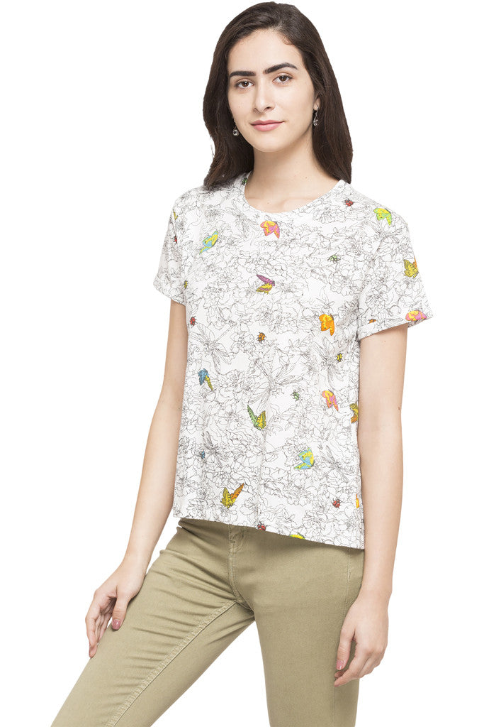 Butterfly Print Top-2