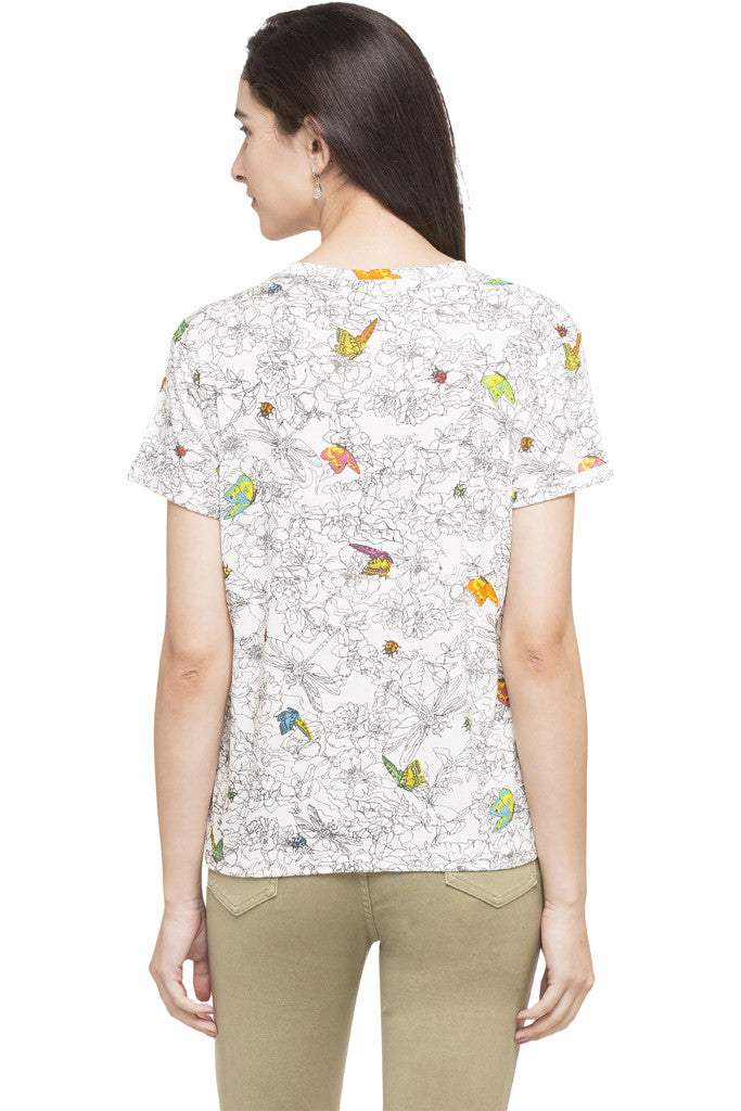 Butterfly Print Top-3
