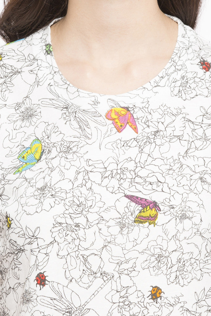 Butterfly Print Top-6