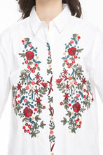 Load image into Gallery viewer, Floral Embroidered Motif Shirt-6