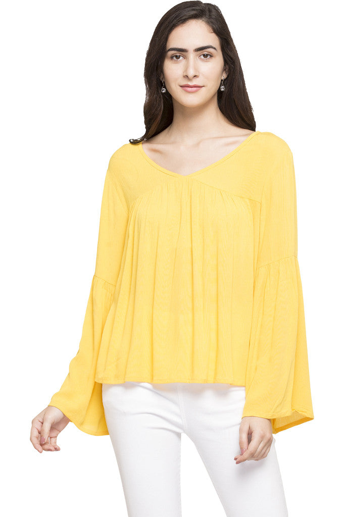 Bell Sleeve Boxy Top-1