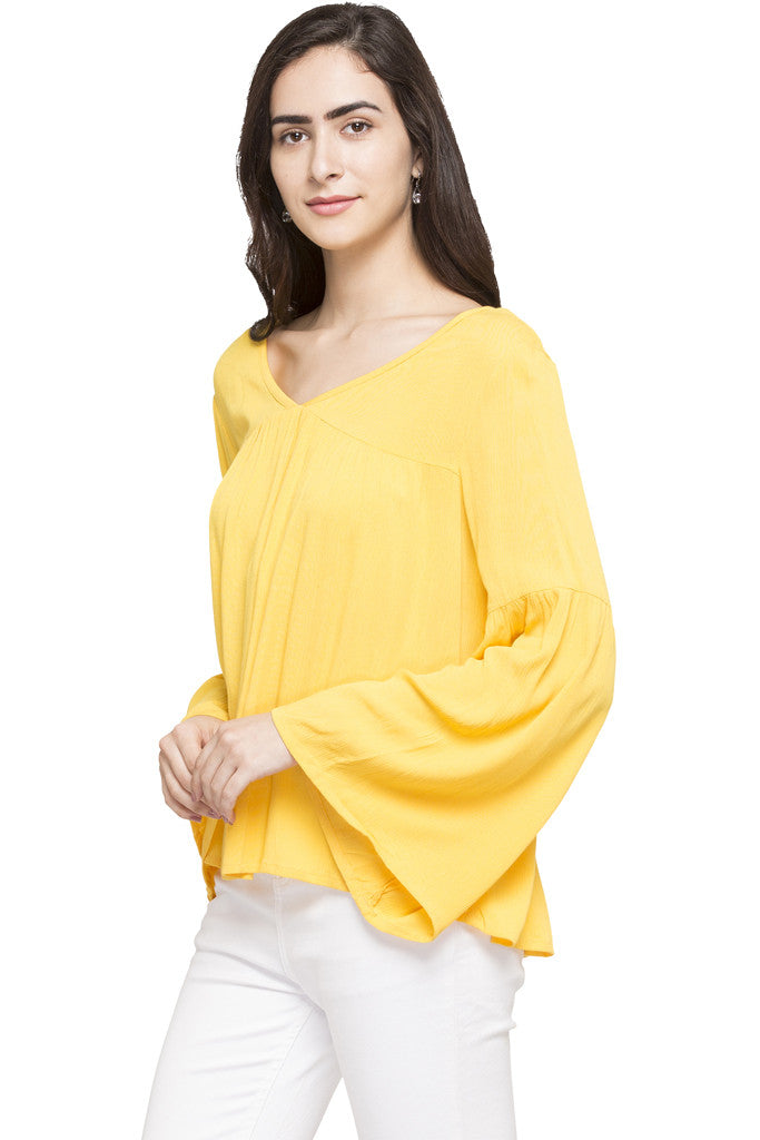 Bell Sleeve Boxy Top-2