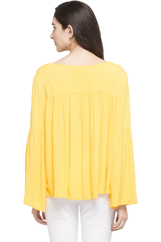 Bell Sleeve Boxy Top-3