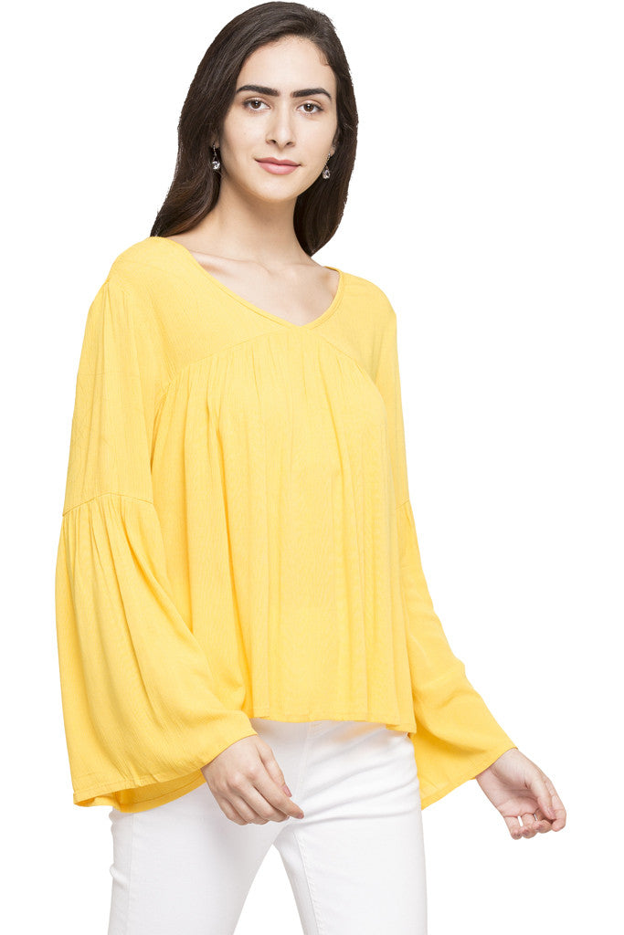Bell Sleeve Boxy Top-4