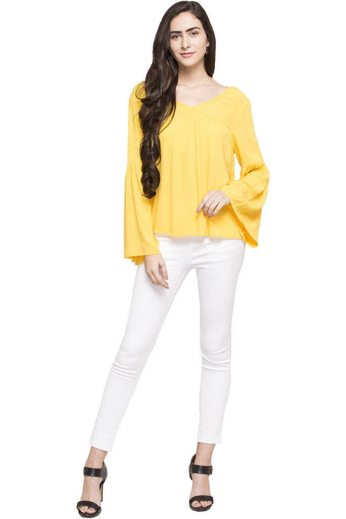 Bell Sleeve Boxy Top-5