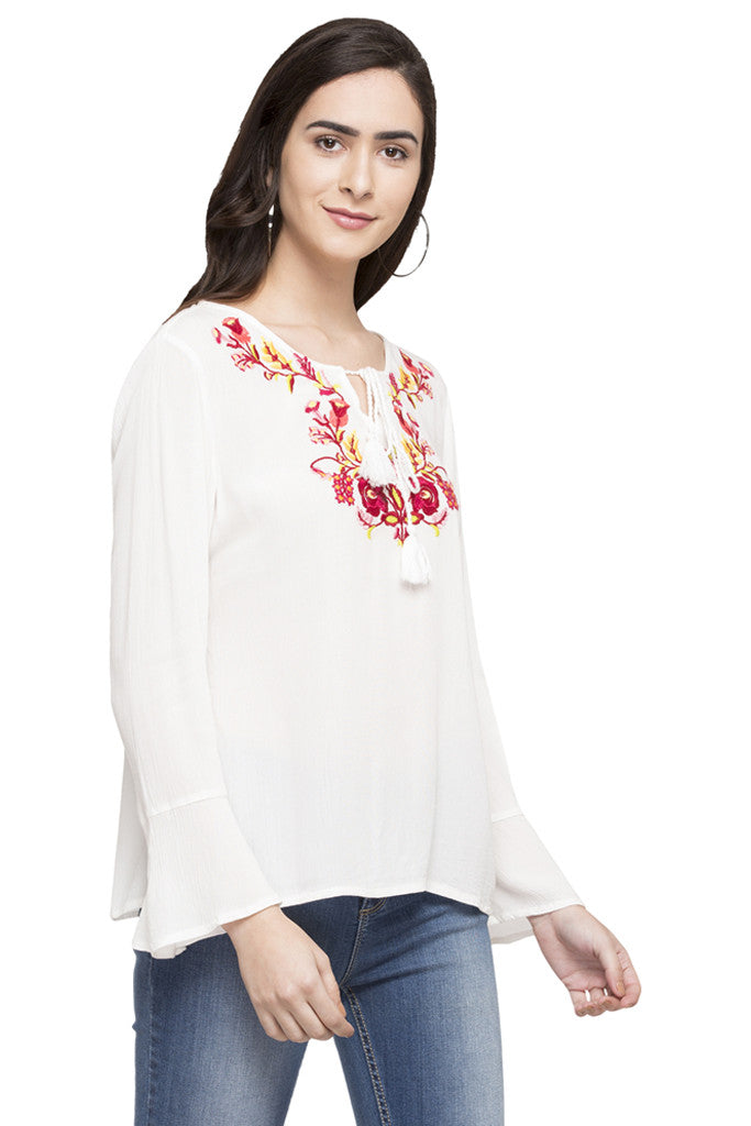 Embroidered Peasant Top-4