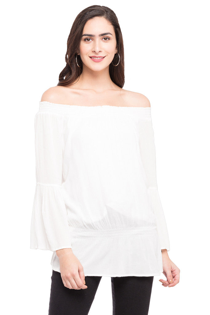 Off Shoulder Volume Top-1