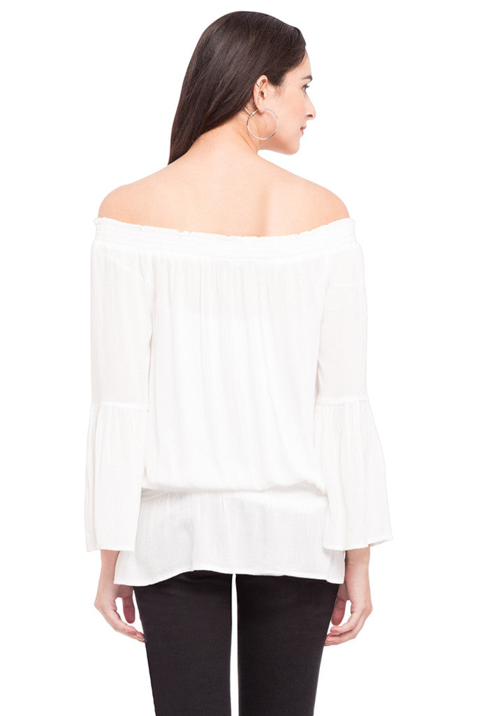 Off Shoulder Volume Top-3
