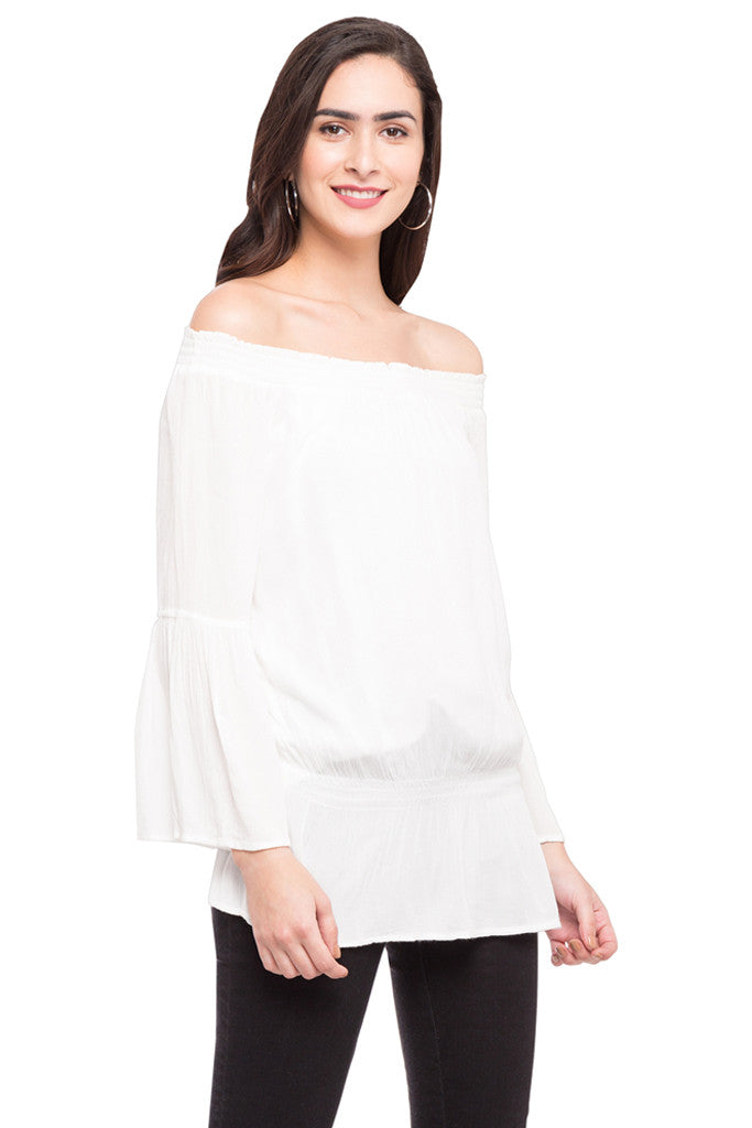 Off Shoulder Volume Top-4