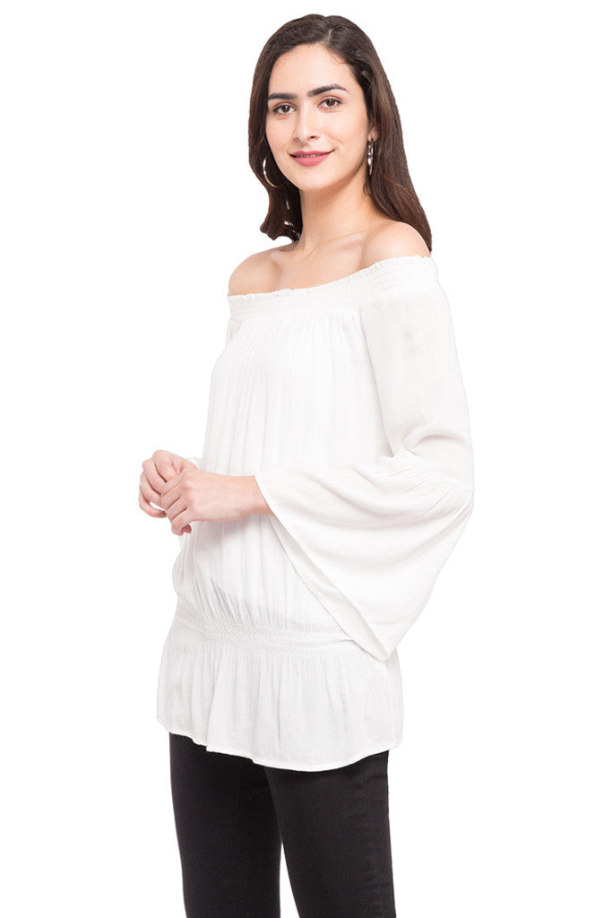 Off Shoulder Volume Top-5