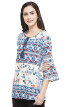 Load image into Gallery viewer, Printed Bell Sleeve Top-5