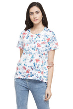 Load image into Gallery viewer, Floral Print T-shirt-1