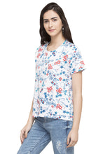 Load image into Gallery viewer, Floral Print T-shirt-5