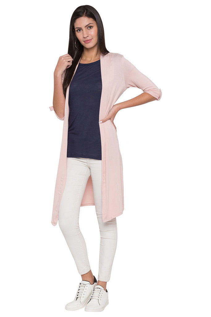 Solid Duster Shrug-2