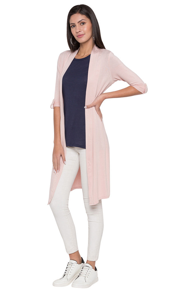 Solid Duster Shrug-4