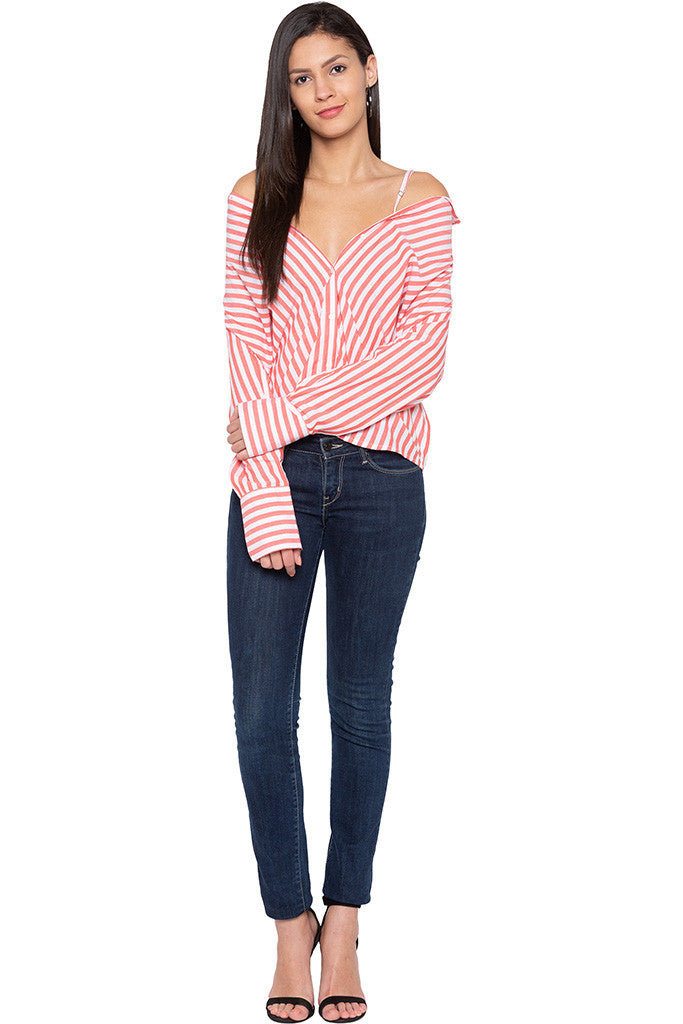 Convertible Striped Shirt-2