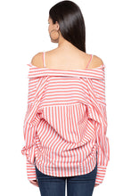 Load image into Gallery viewer, Convertible Striped Shirt-3