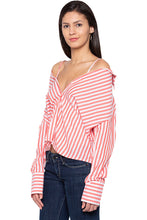 Load image into Gallery viewer, Convertible Striped Shirt-4