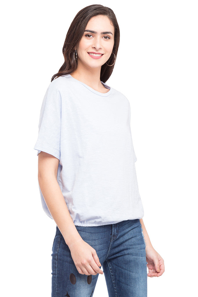 Dolman Sleeve Blouson Top-4