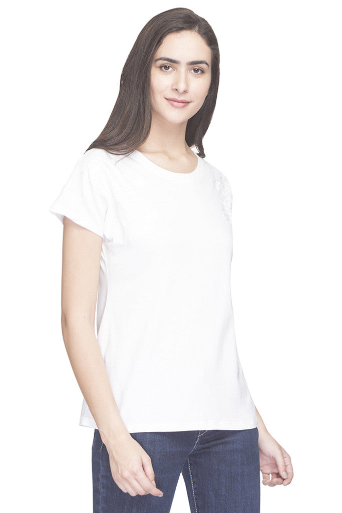 Embroidered Round Necked Top-4