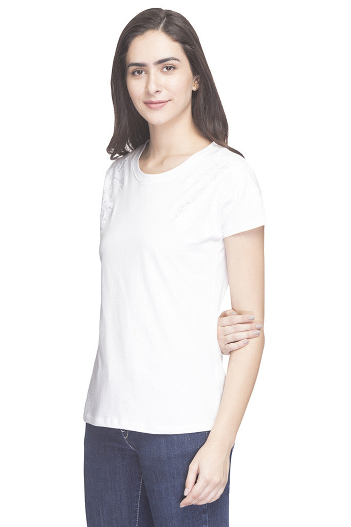 Embroidered Round Necked Top-5