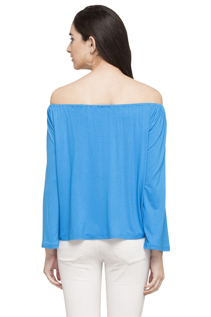 Off Shoulder Solid Top-3