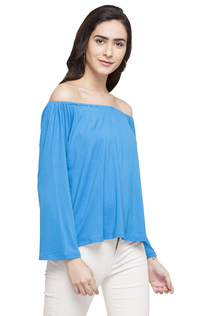 Off Shoulder Solid Top-4