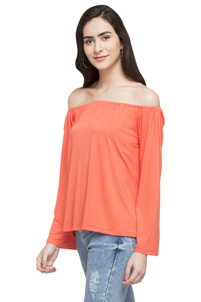 Off Shoulder Solid Top-5