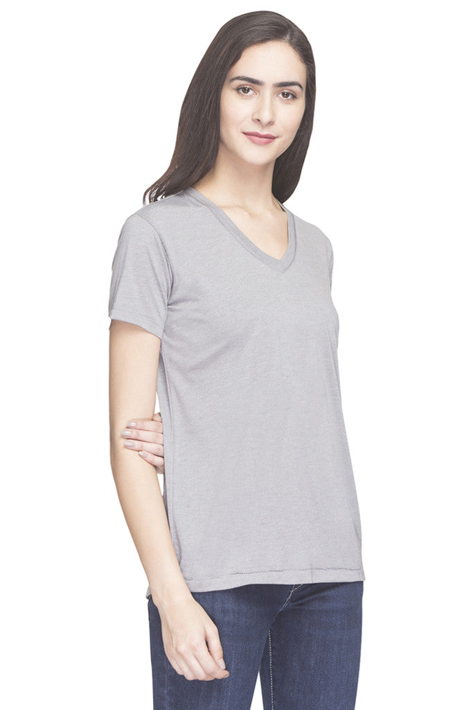 Solid V-neck Top-4