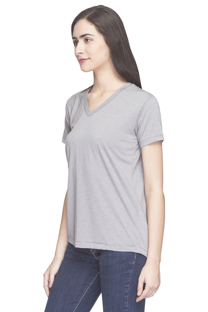 Solid V-neck Top-5