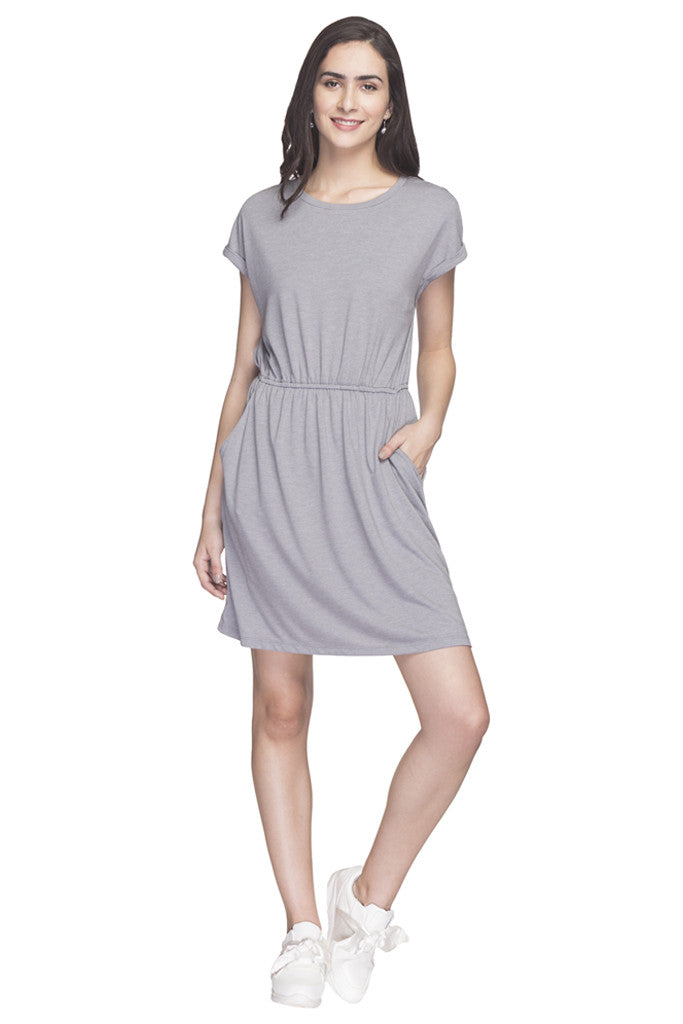 Solid Casual Dress-1