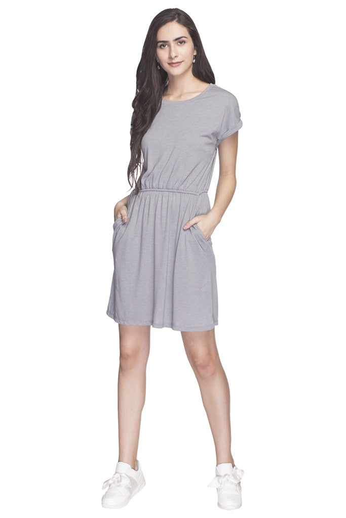 Solid Casual Dress-2