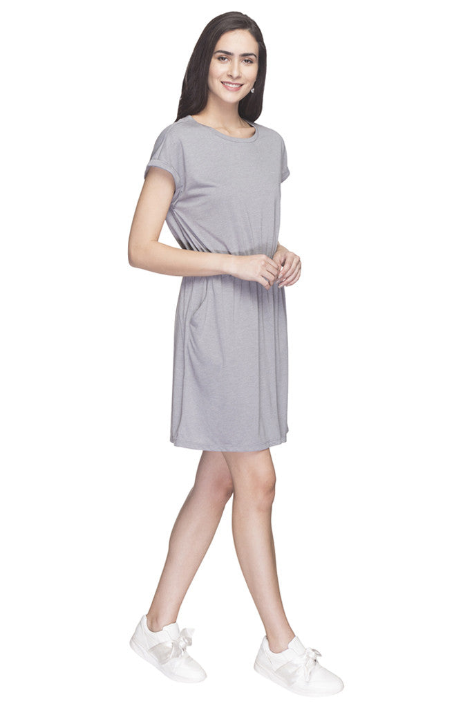 Solid Casual Dress-4
