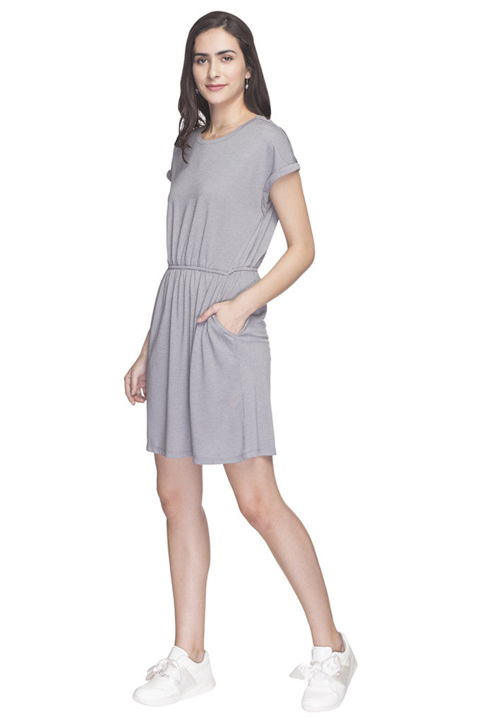 Solid Casual Dress-5
