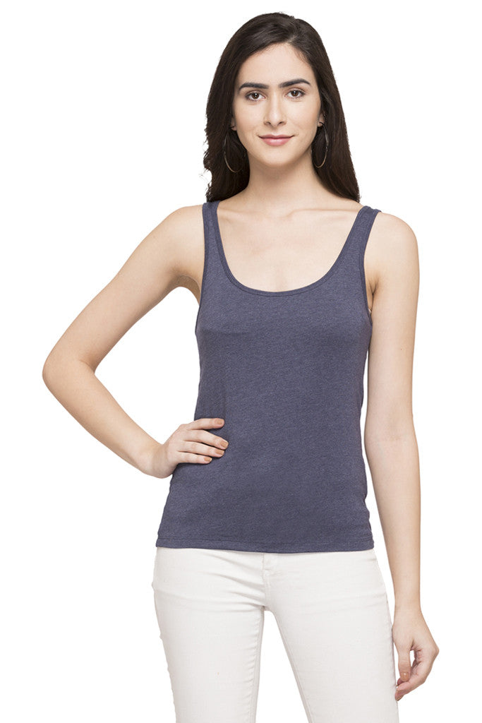 Sleeveless Solid Tee-1