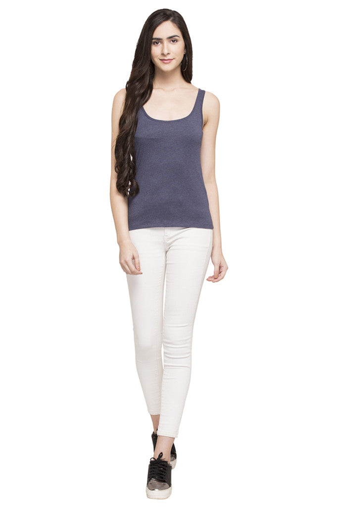 Sleeveless Solid Tee-2