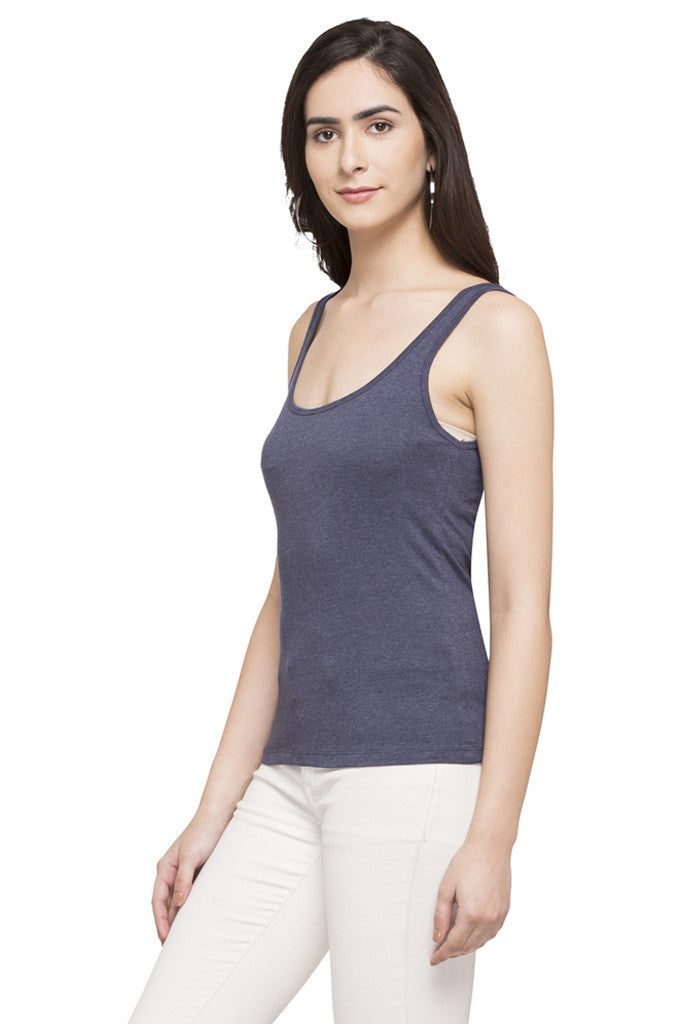 Sleeveless Solid Tee-5