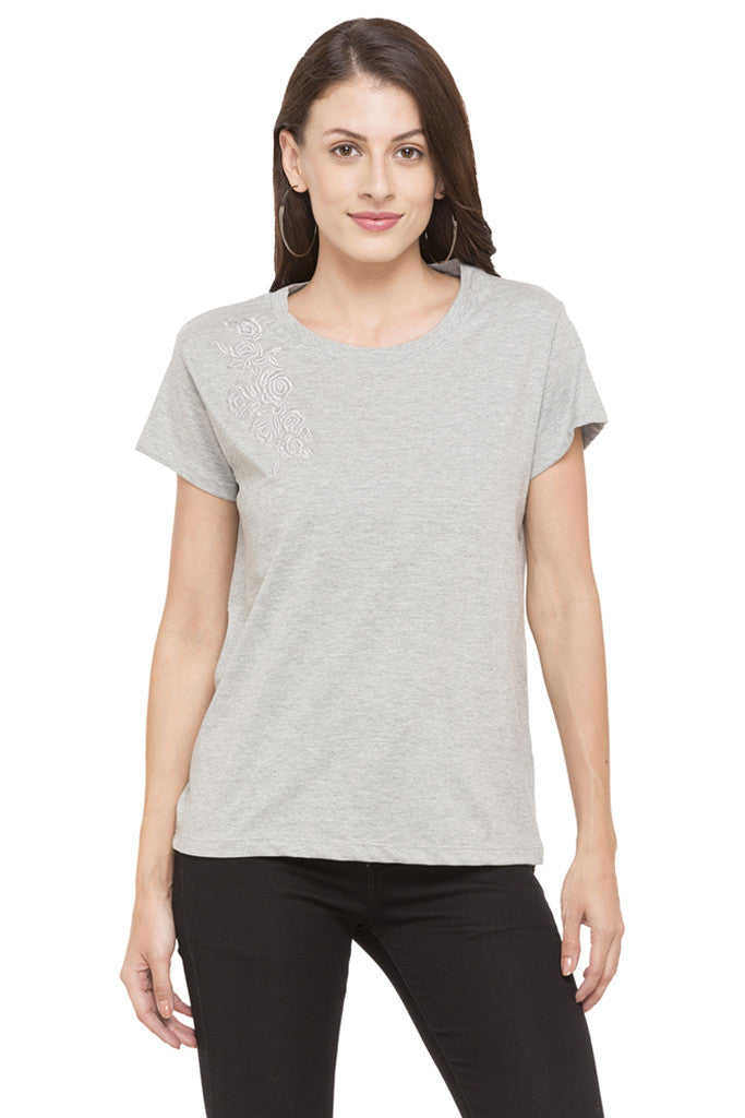 Embroidered T-shirt-1