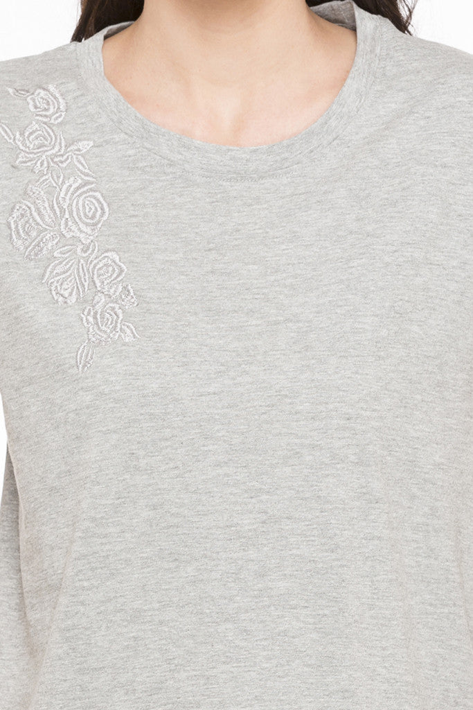 Embroidered T-shirt-6