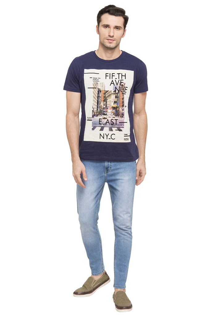 NYC Print Round Neck T-shirt-2