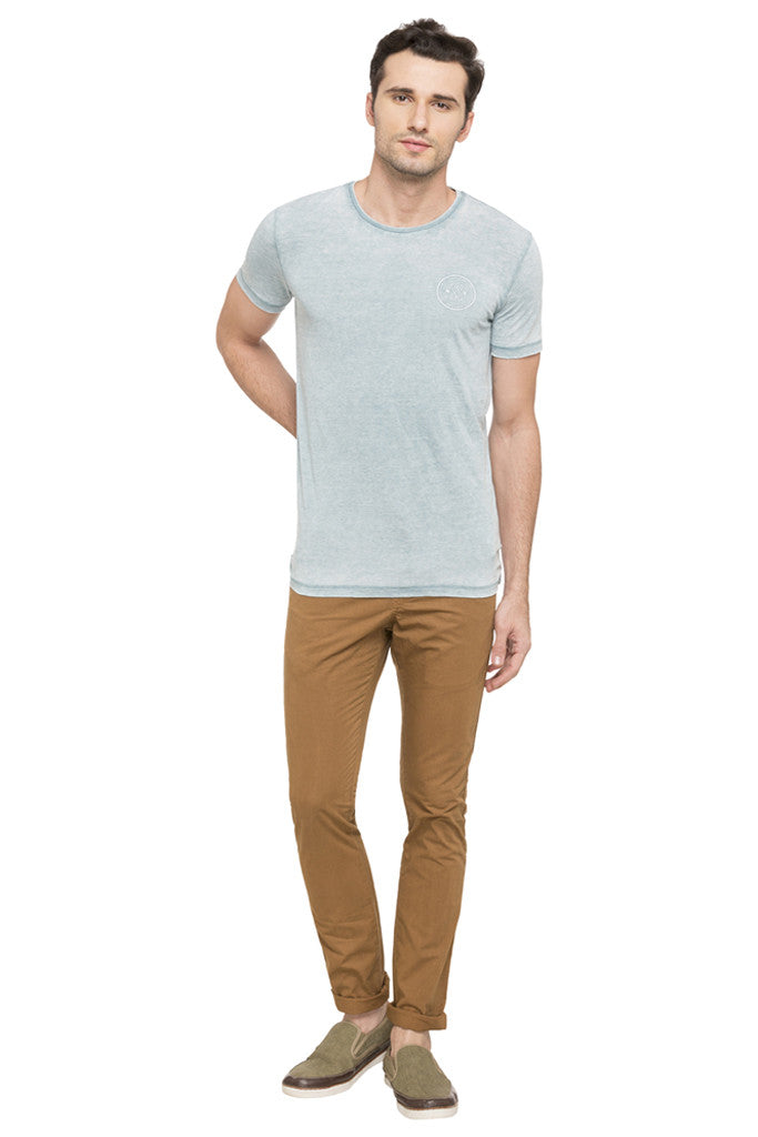 Solid Round Necked T-shirt-2