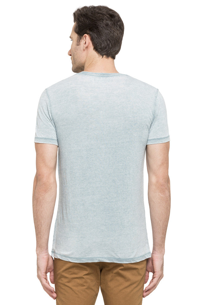 Solid Round Necked T-shirt-3