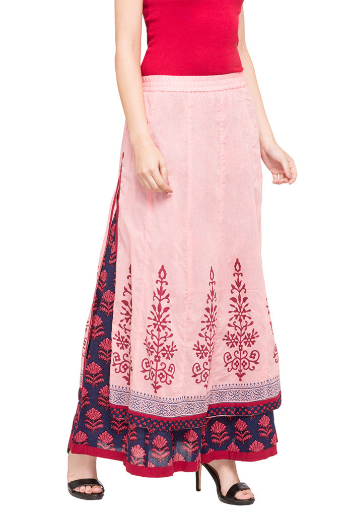 Layered Ethnic Skirt-4