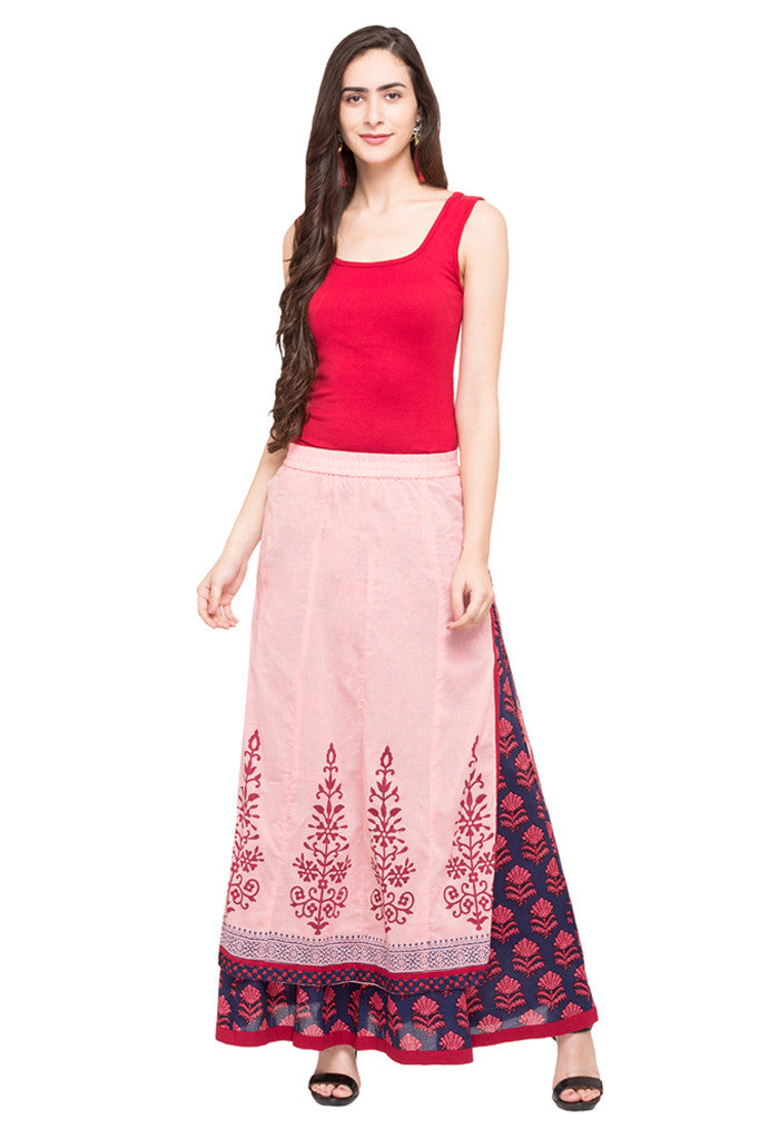 Layered Ethnic Skirt-5
