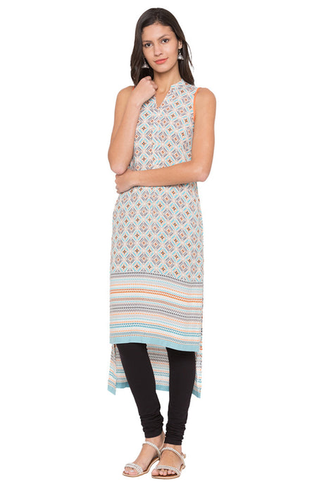 High Low Printed Kurta-1