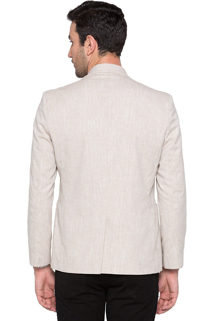 Slim Fit Casual Beige Jacket-3